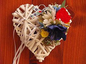 Prstene - Folklórne srdce pod obrúčky - 9084635_