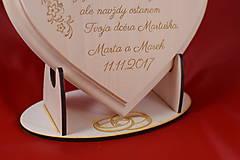 Darčeky pre svadobčanov - Poďakovanie rodičom drevené srdiečko   13 - 9084314_