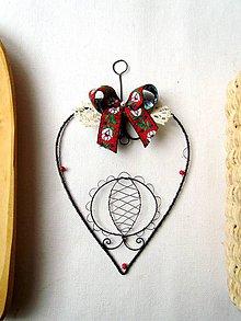 Dekorácie - veľké ornamentové srdce - 9083395_