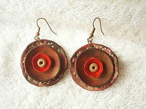 Náušnice - Náušnice z polyméru, červená miska - 9084667_