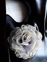 Odznaky/Brošne - Šifónová ruža - 9085144_