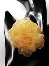 Ozdoby do vlasov - Šifónová ruža - 9085186_