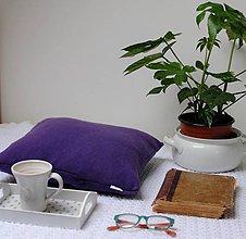 Úžitkový textil - Fialový svetrový vankúš - 9086163_