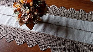 Úžitkový textil - ***  stredový obrus s ažurovou výšivkou*** - 9089085_