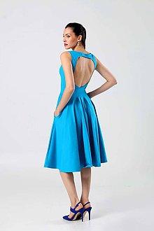Šaty - Midi šaty tyrkysové - 9087563_