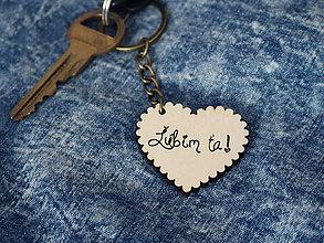 Kľúčenky - Kľúčenka Ľúbim ťa! - 9088904_