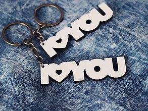 Kľúčenky - Kľúčenka I♥YOU - 9088937_