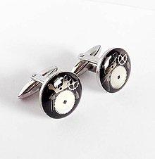 Šperky - Steampunk manžetové gombiky z chirurgické oceli - 9088070_
