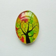 Komponenty - Kabošon - 18x25 mm - sklenený - strom, konáre, tree - 9087849_