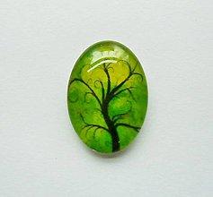 Komponenty - Kabošon - 18x25 mm - sklenený - strom, konáre, tree - 9087851_