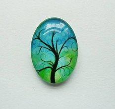 Komponenty - Kabošon - 18x25 mm - sklenený - strom, konáre, tree - 9087854_