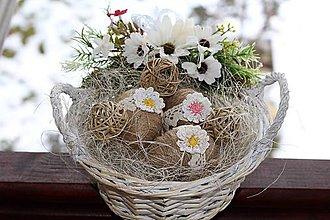 Dekorácie - Veľkonočný košík - 9087610_