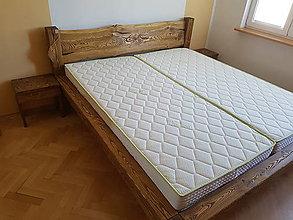 Nábytok - Manželská posteľ  z masívu - 9089863_