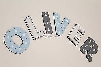 Detské doplnky - OLIVER drevené písmenká pre chlapca - 9088056_