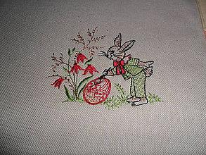Úžitkový textil - Podložky textilné - zajačik - 9090744_