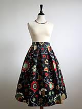 - sukňa s farebnými kvetmi  - 9090341_