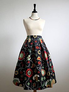 Sukne - sukňa s farebnými kvetmi - 9090341_