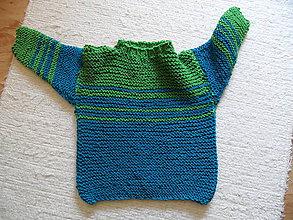 Detské oblečenie - dvojfarebný elastický pulóvrik - 9090492_