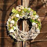 Dekorácie - Jarný veniec na dvere - 9090046_