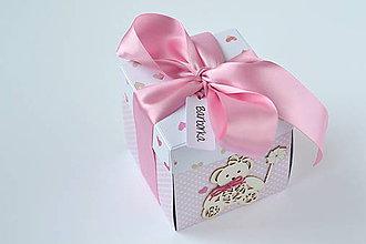 Papiernictvo - Exploding box k narodeniu dievčatka - 9090667_
