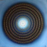 Obrazy - Mandala KVET ŠŤASTIA biely 100 x 100 (80 x 80 cm) - 9090257_