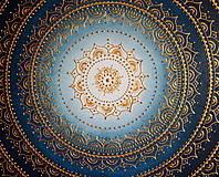 Obrazy - Mandala KVET ŠŤASTIA biely 100 x 100 (80 x 80 cm) - 9090260_