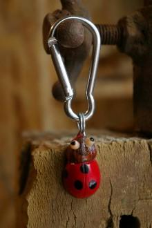 Kľúčenky - Kľúčenka LIENKA - lieskový orech - 9088761_
