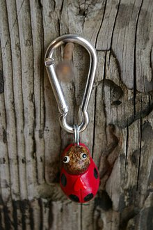Kľúčenky - Kľúčenka LIENKA - lieskový orech - 9089144_
