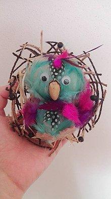 Dekorácie - Malý papagáj - 9088332_