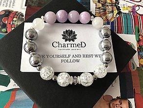 Náramky - Levanduľový náramok / Levander bracelet - 9087527_
