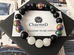 Náramky - Hematitový náramok Rainbow / Hematite Rainbow bracelet - 9087534_