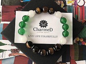 Náramky - Náramok Zelené oko / Green eye bracelet - 9087590_