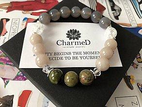 Náramky - Unikátny Jadeitový náramok / Unique Jade Bracelet - 9087681_