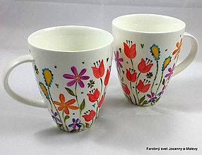 Nádoby - porcelánový hrnček Rozkvitnutý - 9089648_