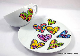 Nádoby - porcelánová šálka Z lásky - 9090118_