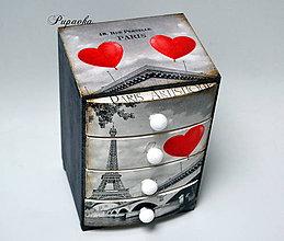 Krabičky - Komodka Paríž - 9089361_