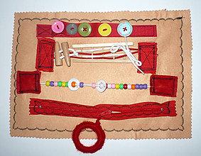 Hračky - Doska manipulačná textilná-II. - 9089229_