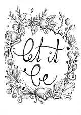 Kresby - Let it be, obrázok na stenu - 9087826_