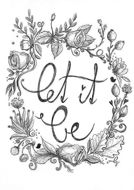 Let it be, obrázok na stenu