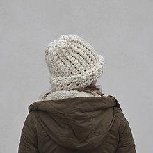 Čiapky - Snehuľa...smotanová - 9089672_
