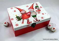 krabička Vianočná so škriatkami