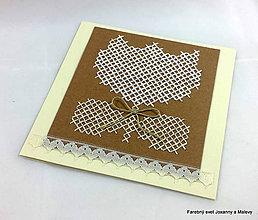 Papiernictvo - pozdrav Vyšívaný tulipán - 9089237_