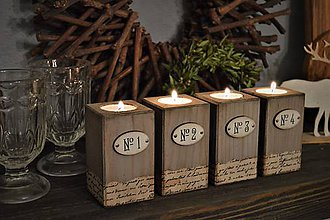 Svietidlá a sviečky - Vintage svietniky - 9090199_