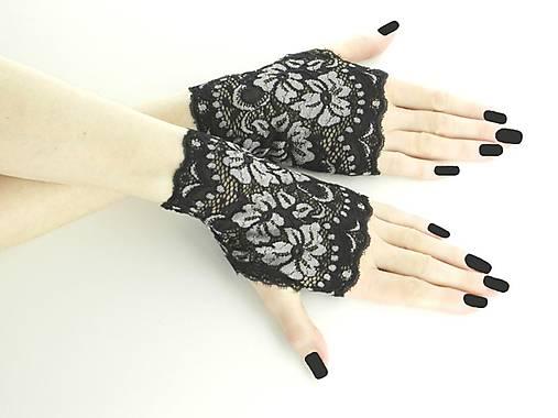 27688ab15 Zľava Dámské čierno šedé čipkové rukavice 0185C / Gothic_Burlesque ...