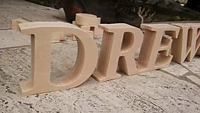 Dekorácie - Samostatne stojace drevené písmenka - 9092660_