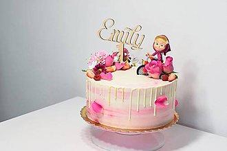 Dekorácie - Zápich na tortu s číslom 1 - 9093137_