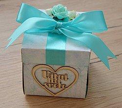 Papiernictvo - Blahoželanie ku krstu pre chlapčeka - krabička na peniaze - 9094678_