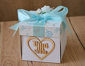 Papiernictvo - Blahoželanie ku krstu pre chlapčeka - krabička na peniaze - 9094700_