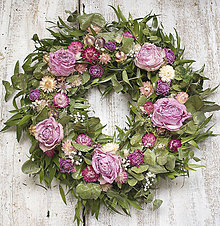 Dekorácie - Celoročný veniec Medzi ružami - 9092885_