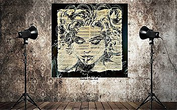 "Obrazy - MADONNA-""Normal is boring""....popart obraz - 9091435_"